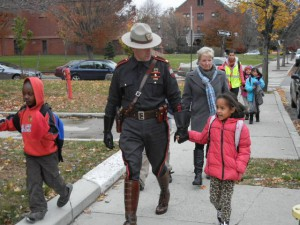 And Providence Police sometimes accompany students on the walk to school.