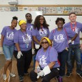 Neighborhoods Week. Team members volunteer at and around Pulaski School on Detroit's East Side.