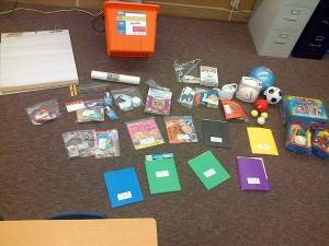 Materials provided by SDUCPTA given to preschool teachers to carry out activities in the curriculum.