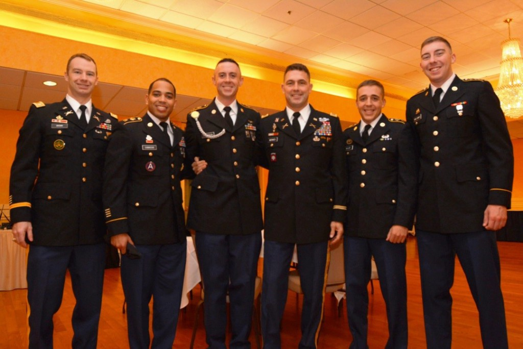 Second Lieutenant Andrew Giller (second from right) at the 2014 U.S. Army Strengthening America's Youth committee meeting, where he spoke with leaders of national organizations about his college and ROTC experience.